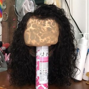 "Lace Front Human Hair Wig 15"" Naturally Curly"